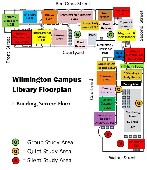 Wilmington Campus Library Floor Plan