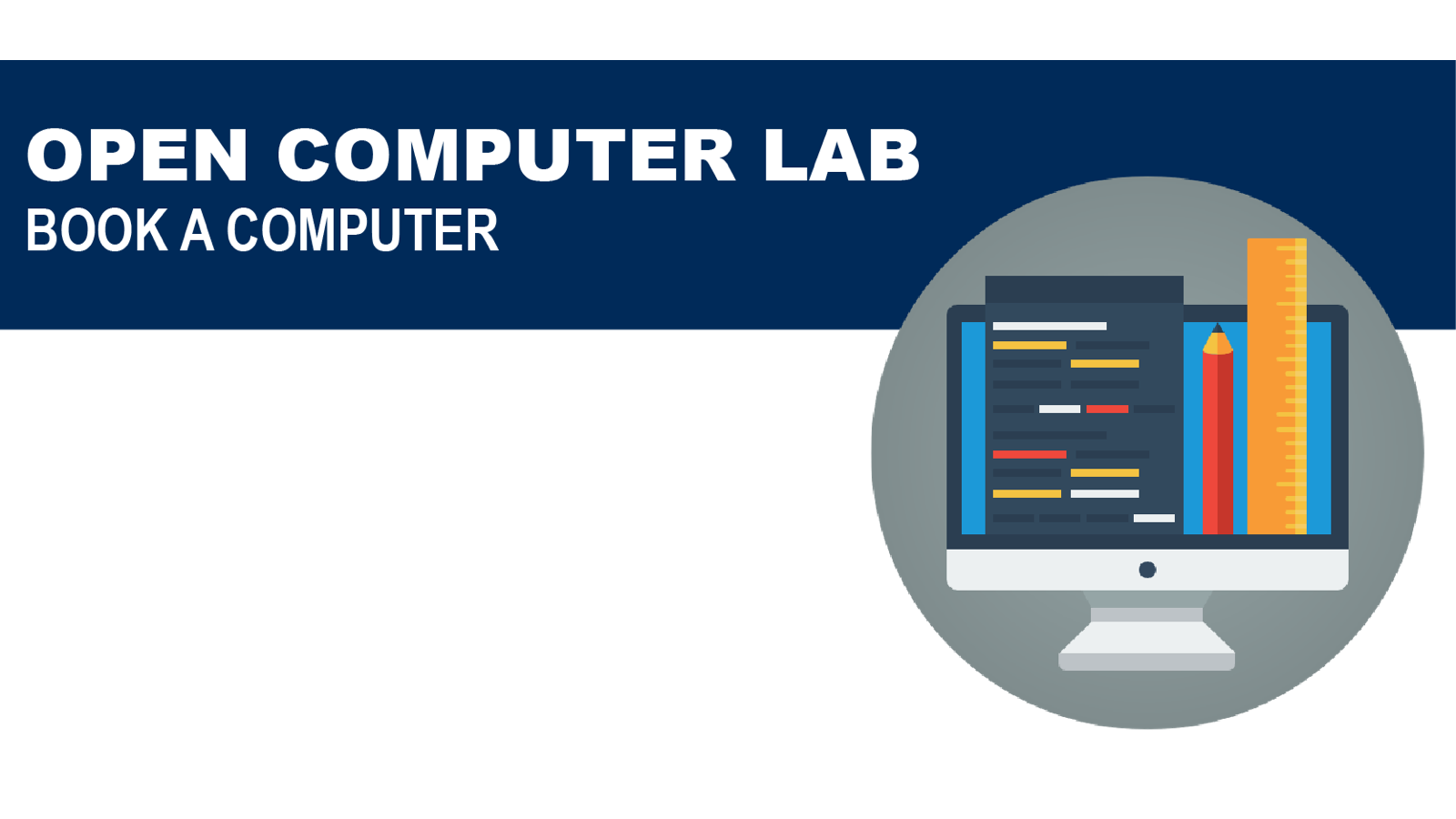 Book a Computer in the Open Lab