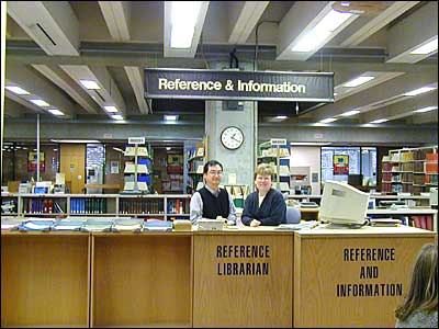 Librarians at the Reference Desk