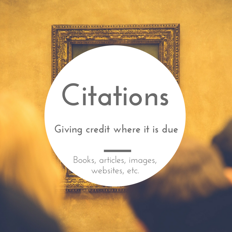 Citations - Giving credit where it is due