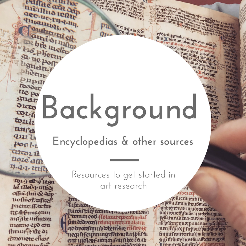 Background - Encyclopedias and other sources