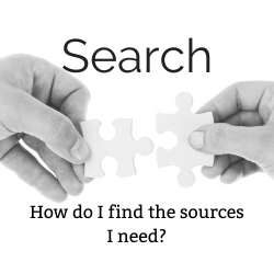 clickable button that will take you to the Search LIbrary Resources section of the guide.