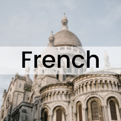 clickable button that will take you the section of this guide on French language resources.