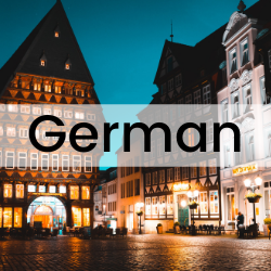 clickable button that will take you the section of this guide on German language resources.
