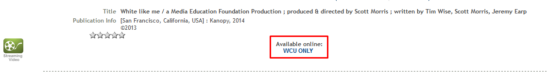 Catalog WCU only button highlighted