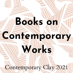 Clickable button that will take you to the section on contemporary clay art books.