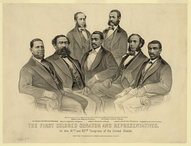First African Americans elected to U.S. Congress, 1872
