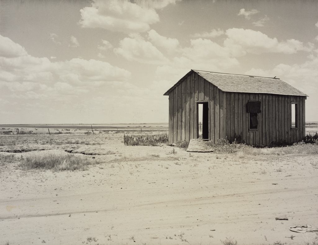 Photograph of an abandoned house