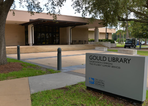 Image entrance of Gould library