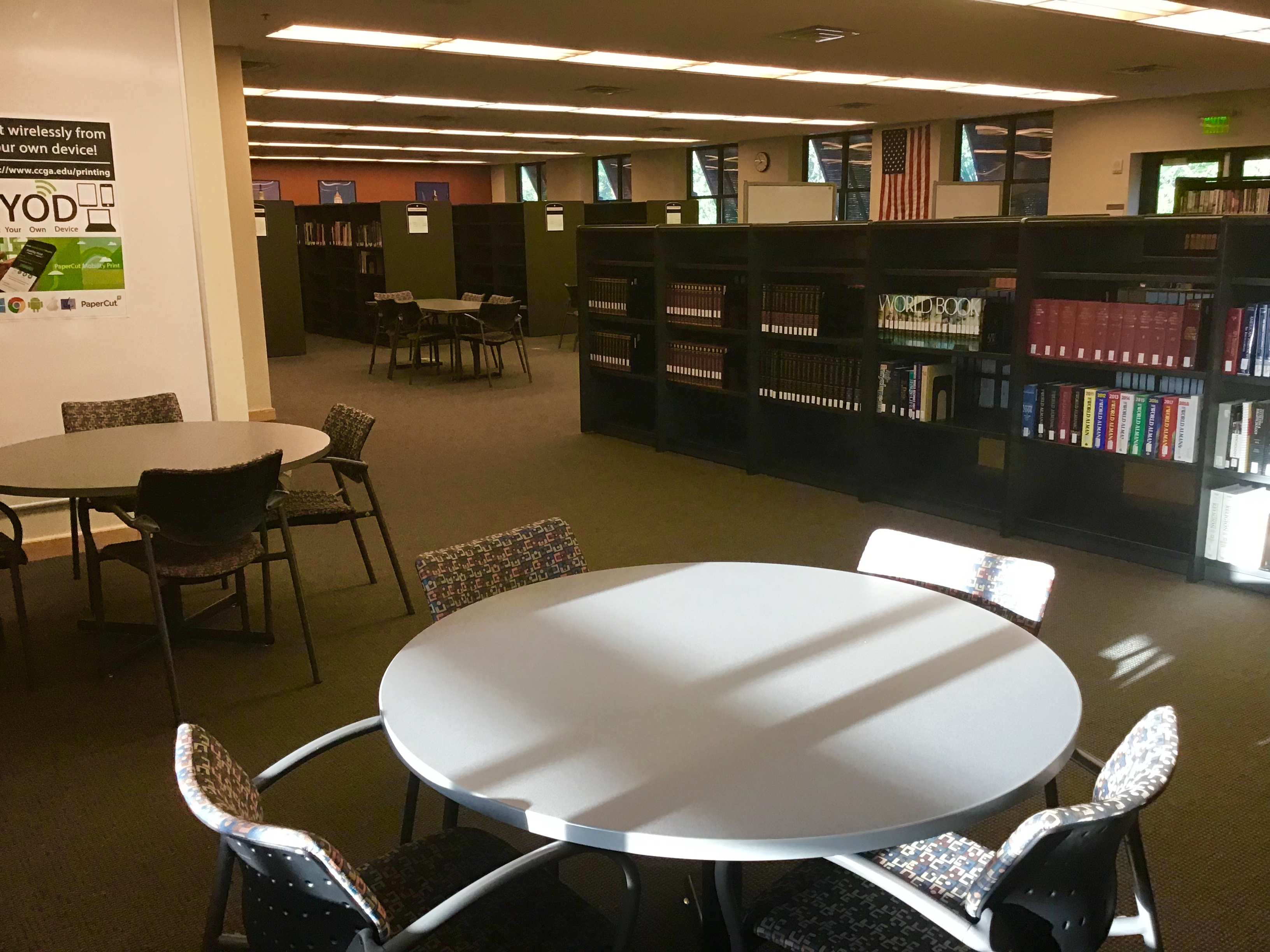 Quiet area in Camden Library