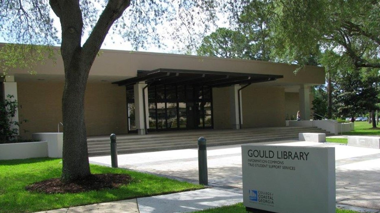 Exterior of Gould Library