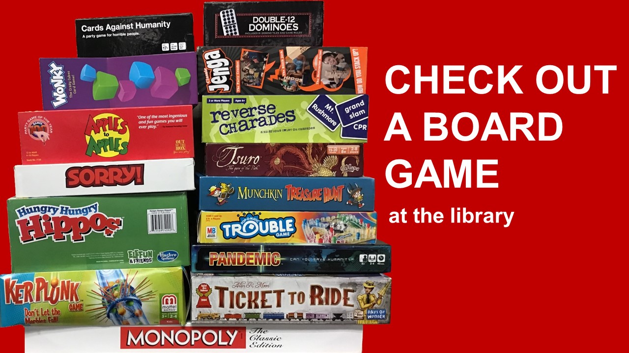 Check out board games at the library