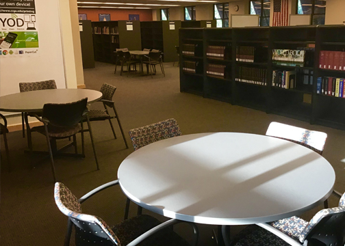 Tables in Camden Library