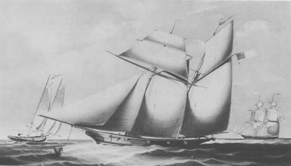 Illustration of The Wanderer, 1857