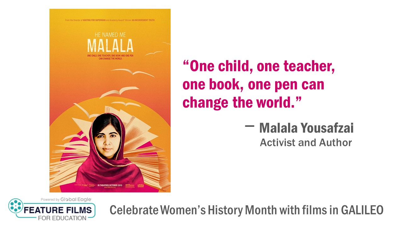 Video cover art for Malala promoting Features Films in Education in GALILEO