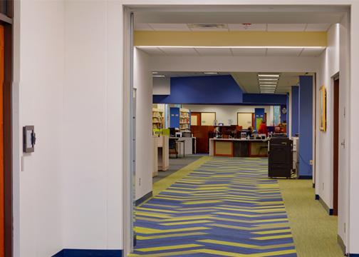 Walkway at Gould library