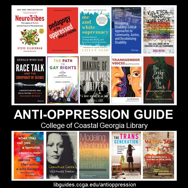 Various book covers for Anti-Oppression Guide