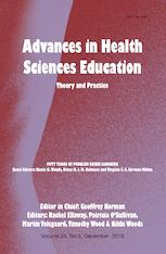 Advances in Health Sciences Education Theory and Practice