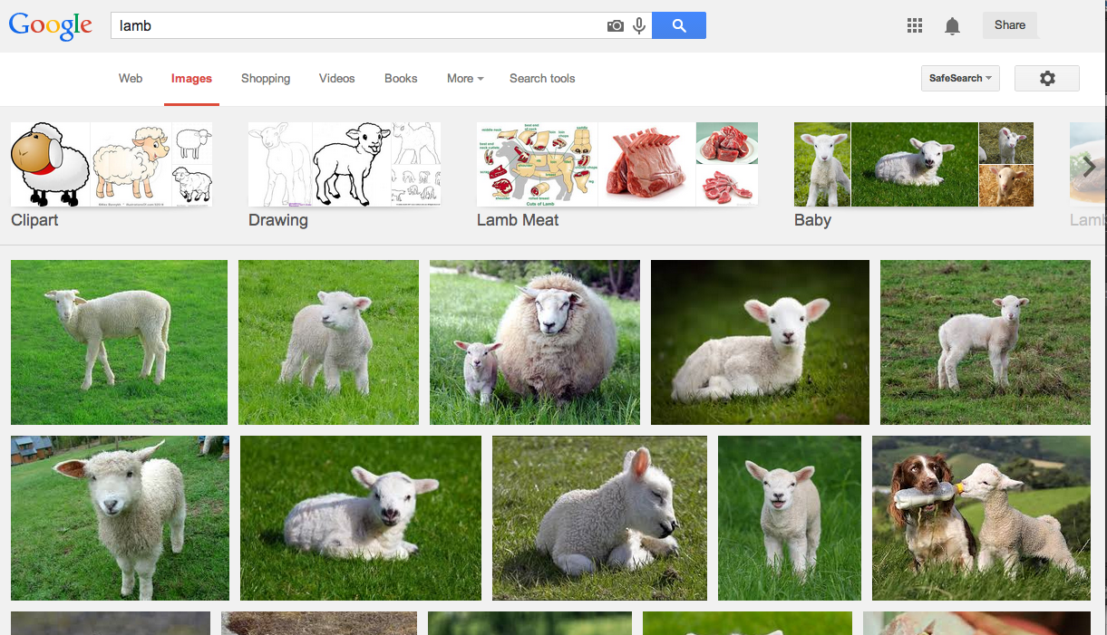 Google images results