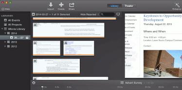 screen capture of imovie