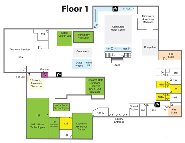 library first floor map