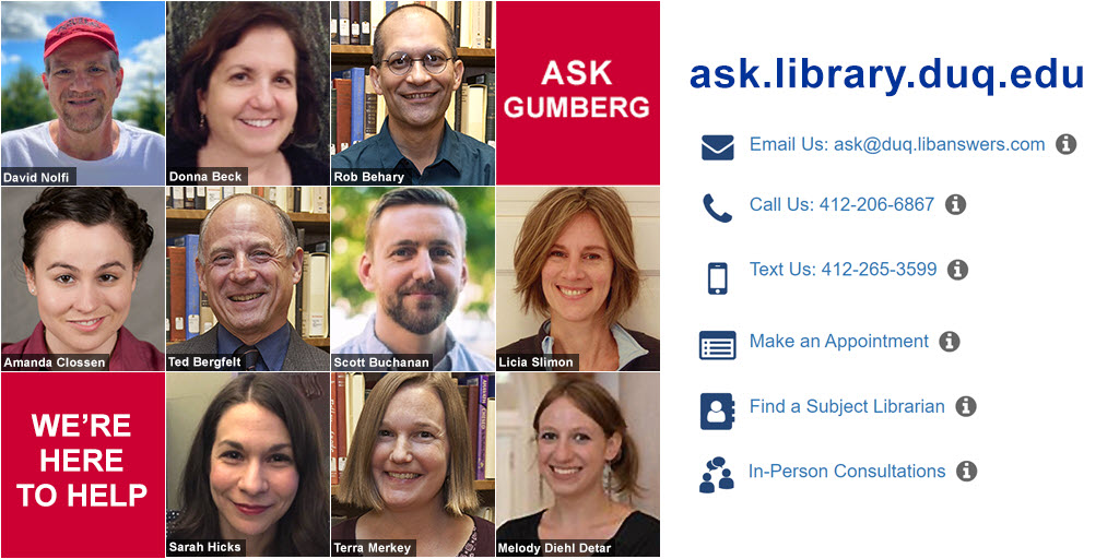 Ask Gumberg Pictures of Librarians