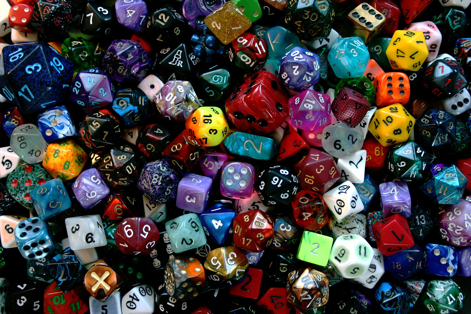 a picture of polyhedral dice