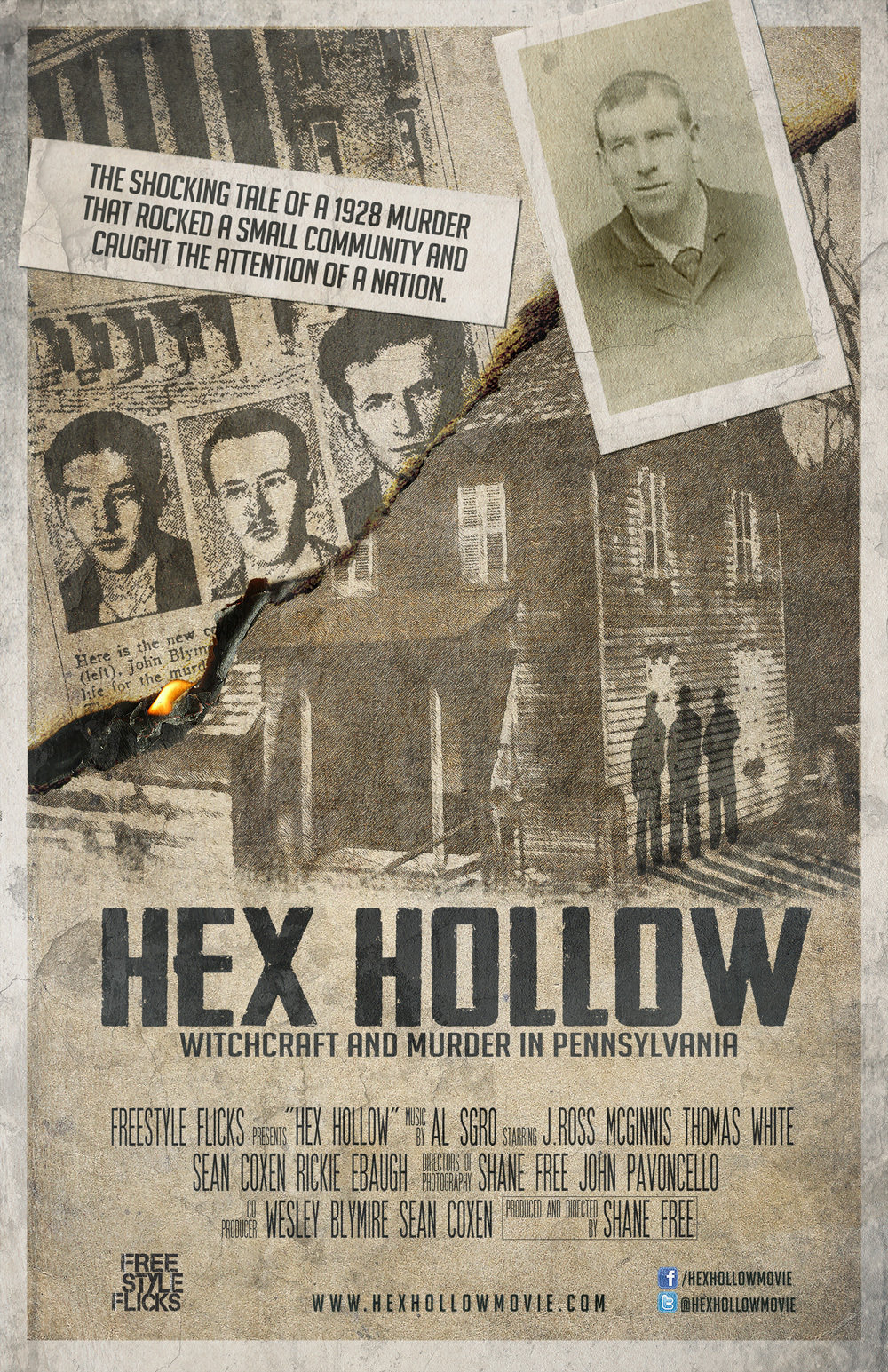The poster for the DVD of Hex Hollow