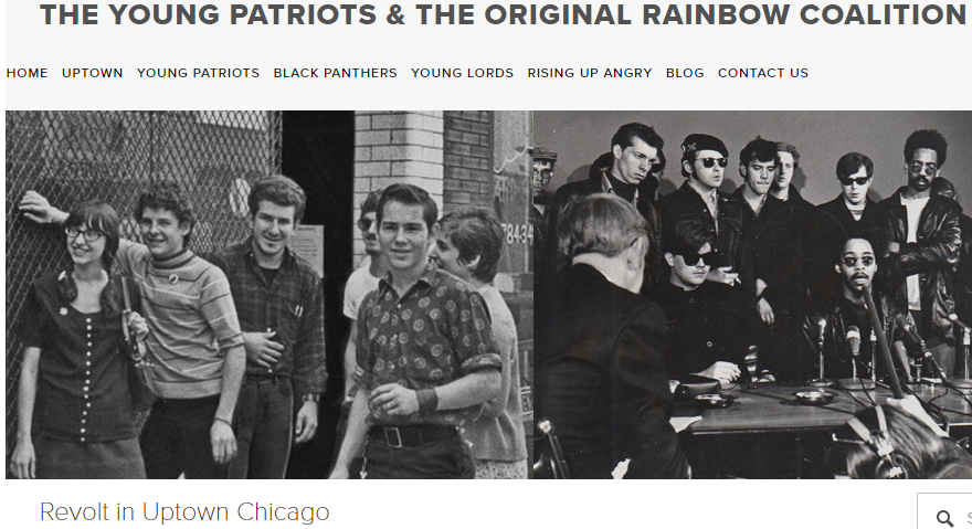 Screen Shot of the Webpage The Young Patriots and the Original Rainbow Coalition