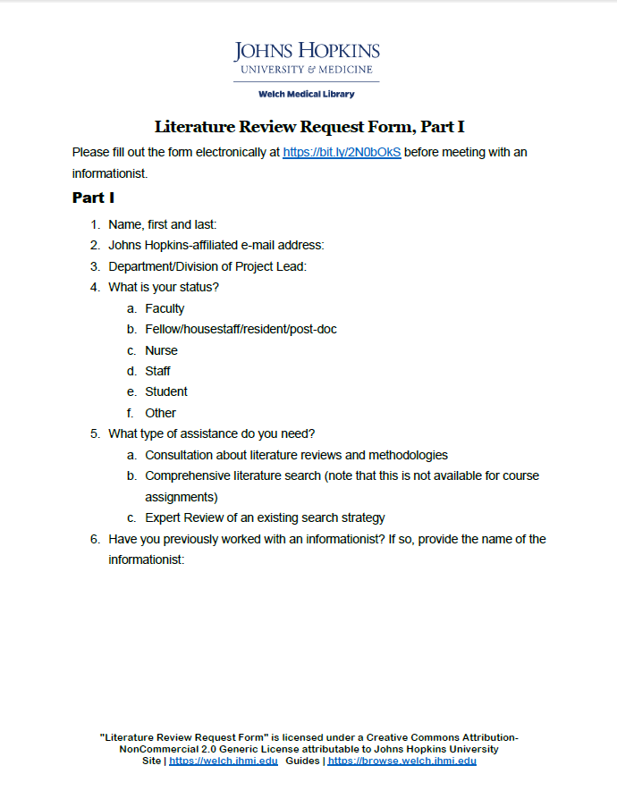thumbnail image of literature review request form