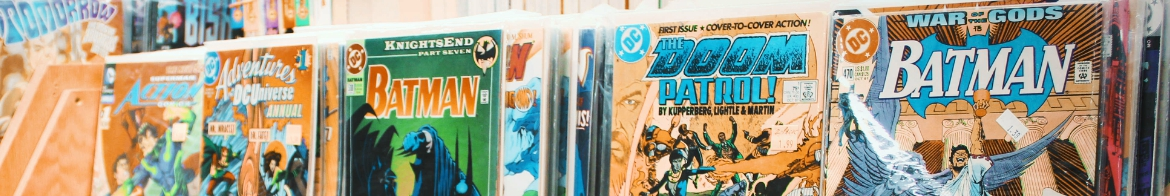 comic books on a shelf
