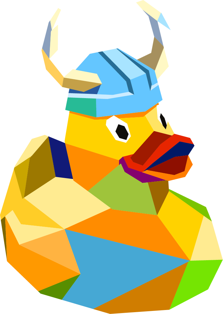 Rubber Duck with Viking Horns