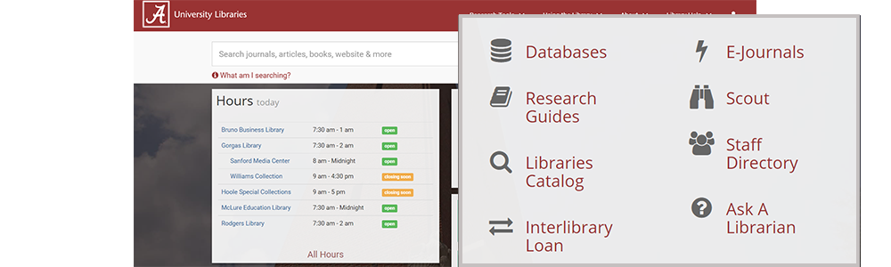 University Libraries homepage