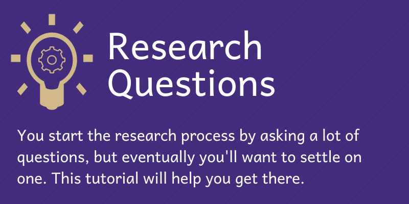Research Questions Tutorial