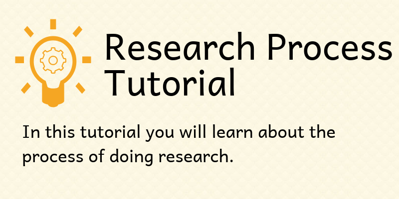 research process tutorial