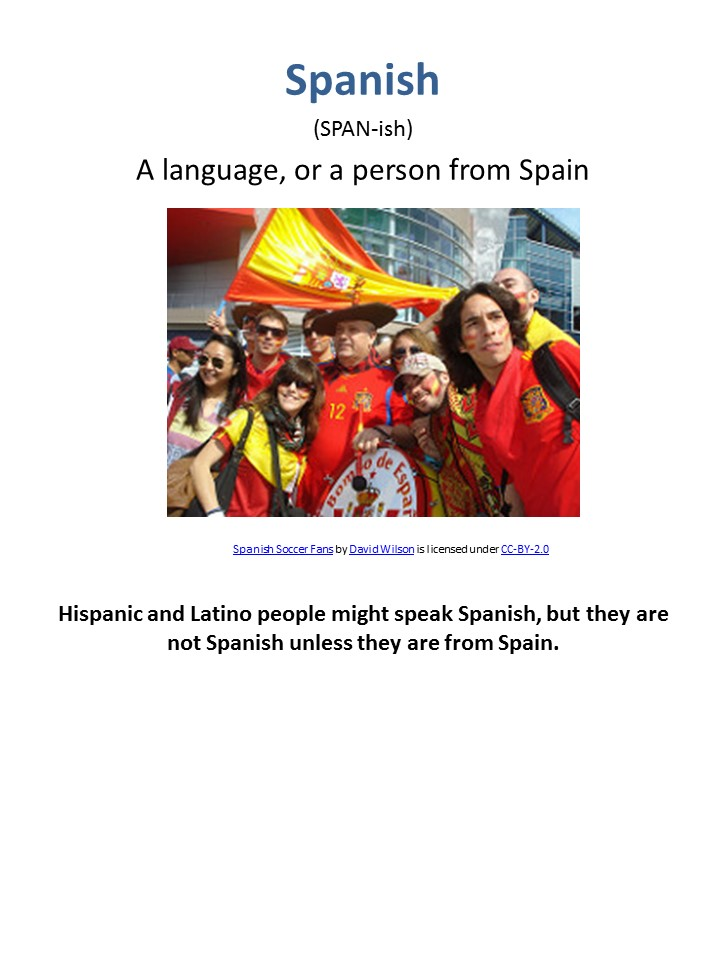 definition of Spanish