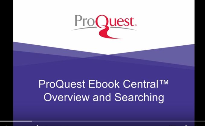 ProQuest Ebook Central tutorials thumbnail