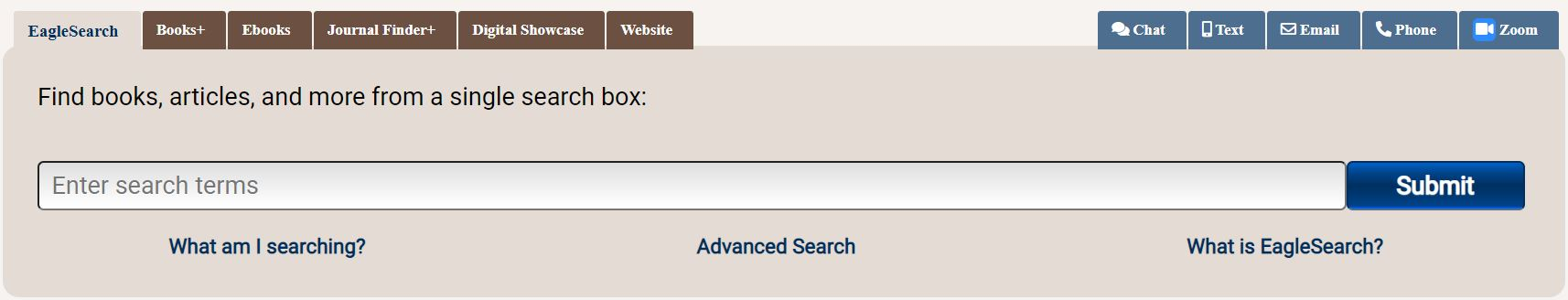 quick search box