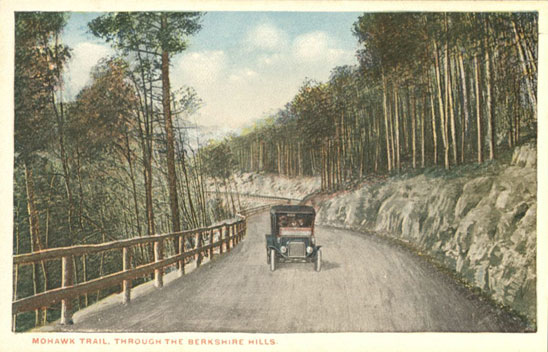 Postcard of Mohawk Trail through the Berkshire Hills