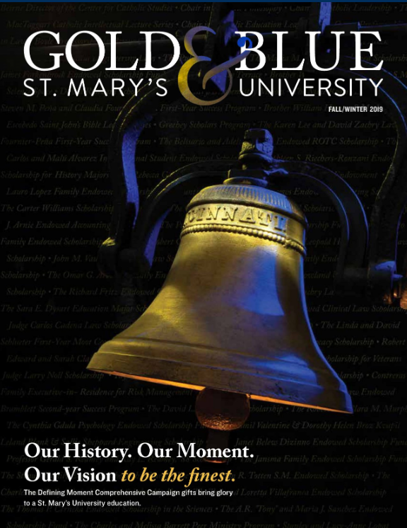 cover of one issue of the Gold and Blue