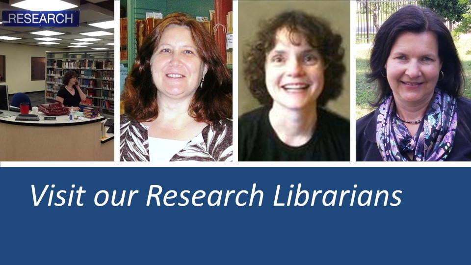 composed photo of Blume Library librarians