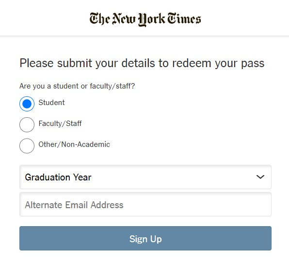 Are you a student or faculty/staff? If you're a student, choose your expected graduation year.