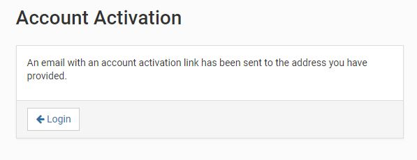 An email with an account activation link has been sent to your email address.