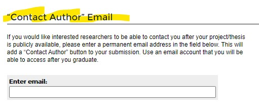 """""""Contact Author"""" email option"""