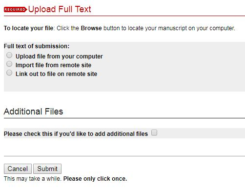 Upload the file from your computer, then click Submit. Be patient, it may take a second!