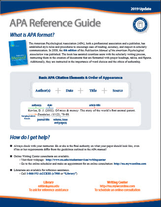 Image of the APA Reference Guide (6th ed.)
