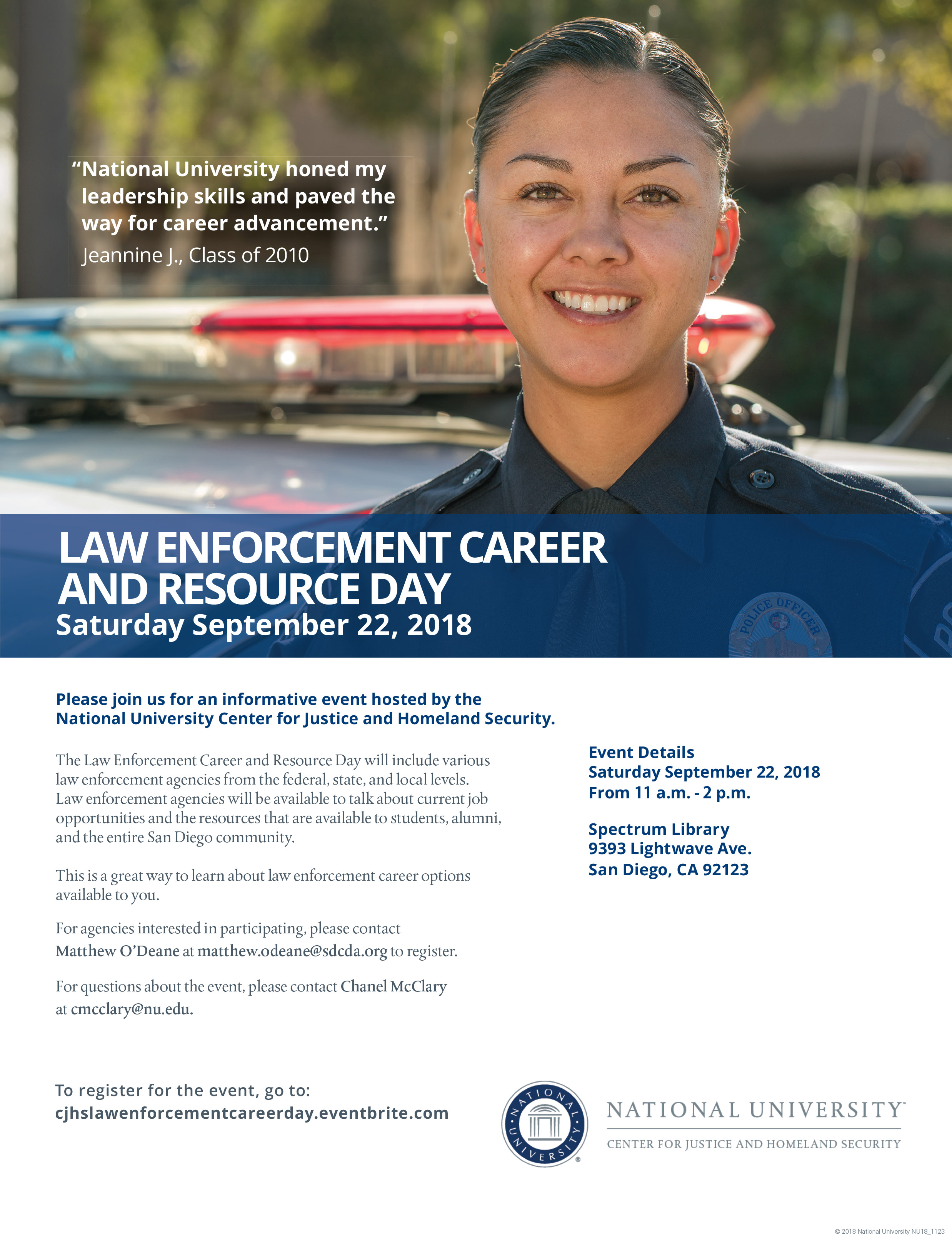 law enforcement career day flyer