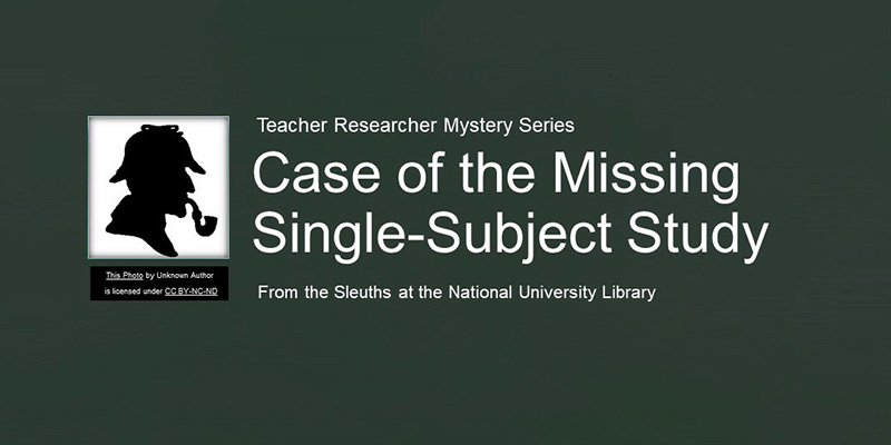 Finding Single-Subject Studies