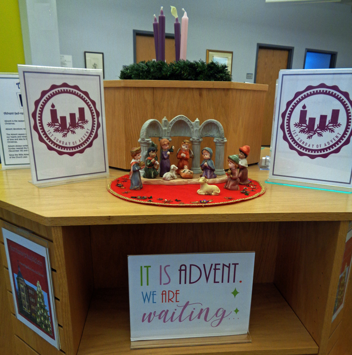Advent Library Display
