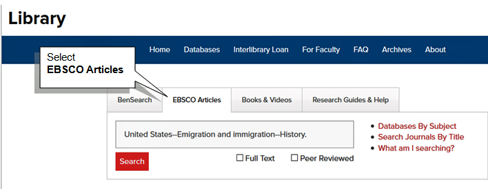 EBSCO Articles